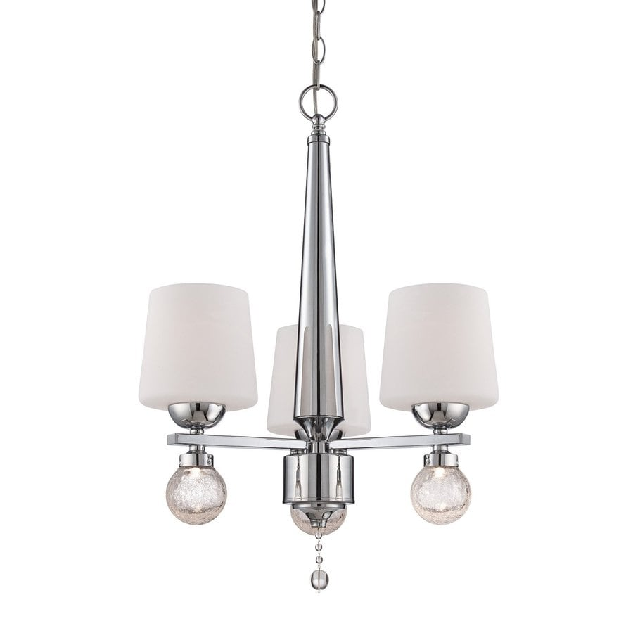 Designer's Fountain Astoria 19.5-in 3-Light Chrome Shaded Chandelier