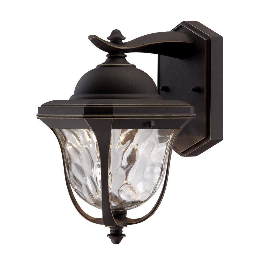 Designer's Fountain Marquette 10.25-in H Aged Bronze Patina Outdoor Wall Light ENERGY STAR