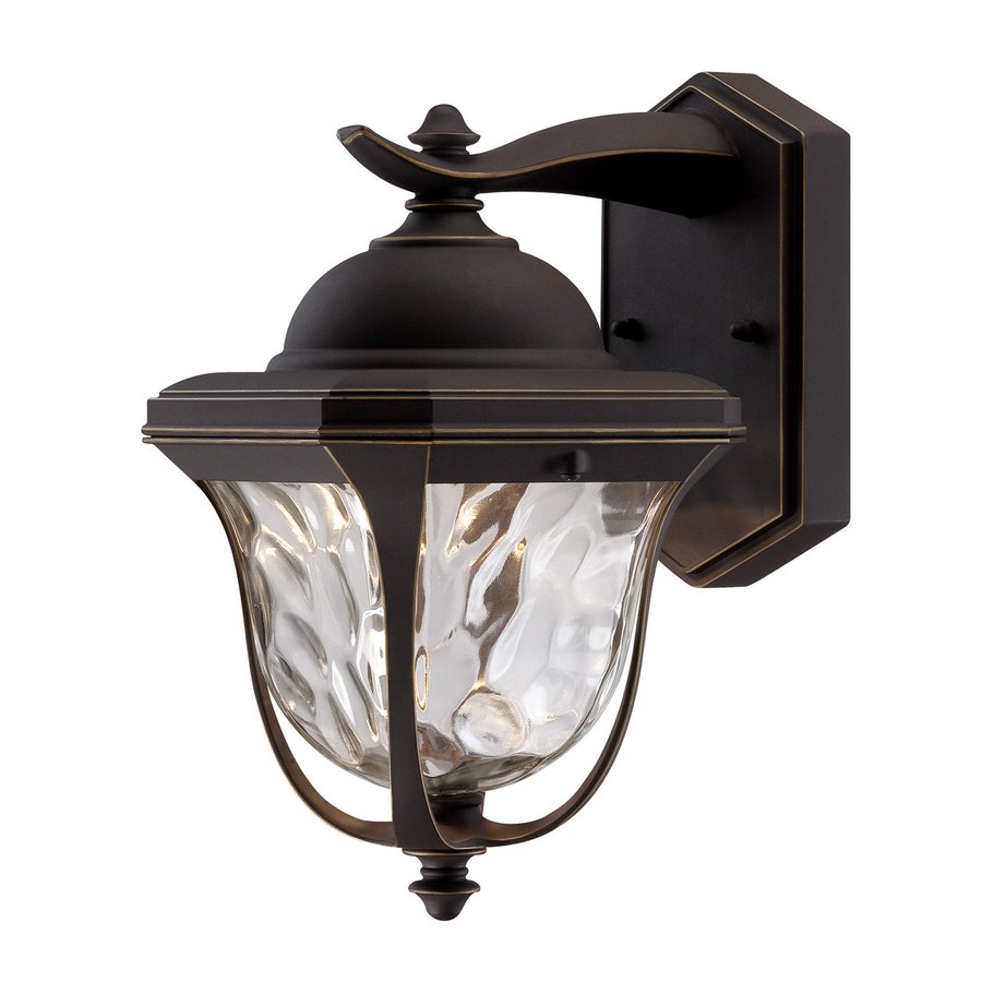 Designer's Fountain Marquette 14.25-in H Aged Bronze Patina Outdoor Wall Light ENERGY STAR