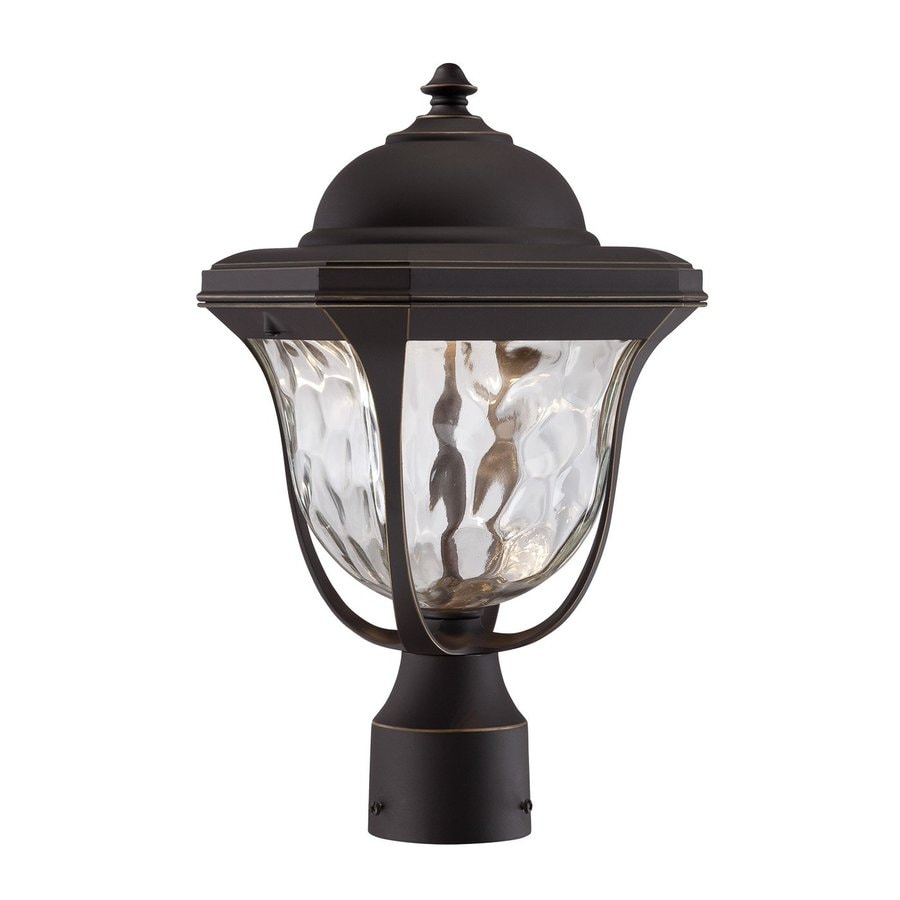 Designer's Fountain Marquette 15.25-in H Aged Bronze Patina LED Post Light