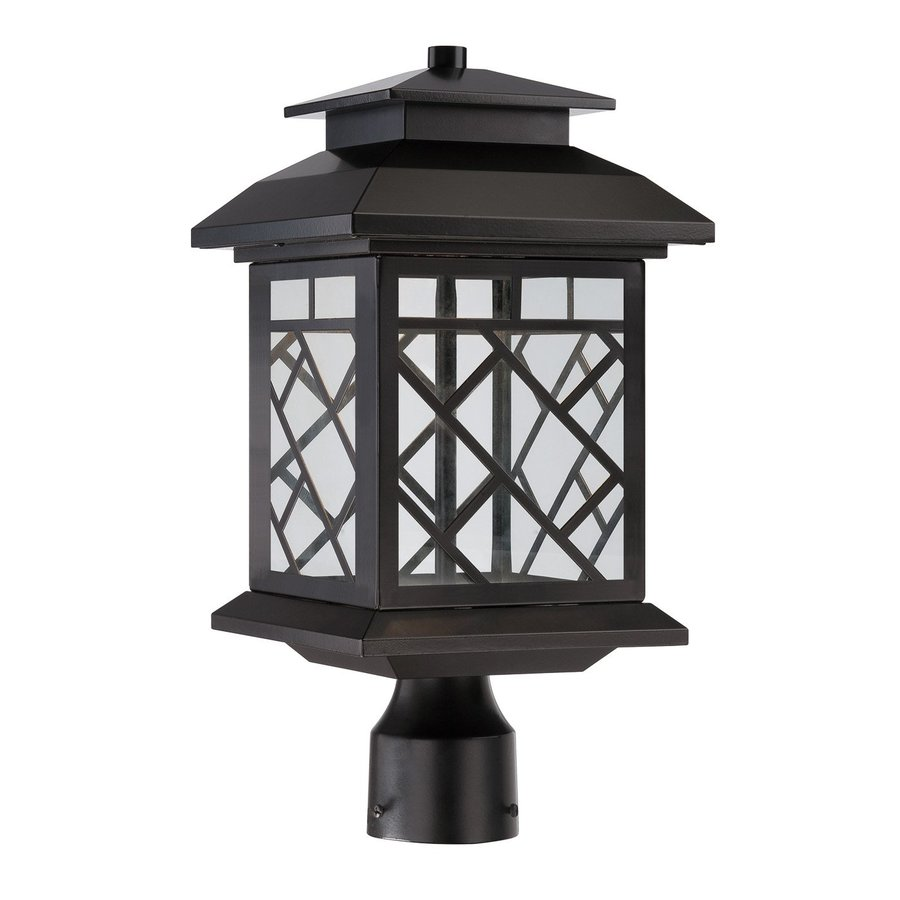 Designer's Fountain Woodmere 16.5-in H Oil Rubbed Bronze LED Post Light