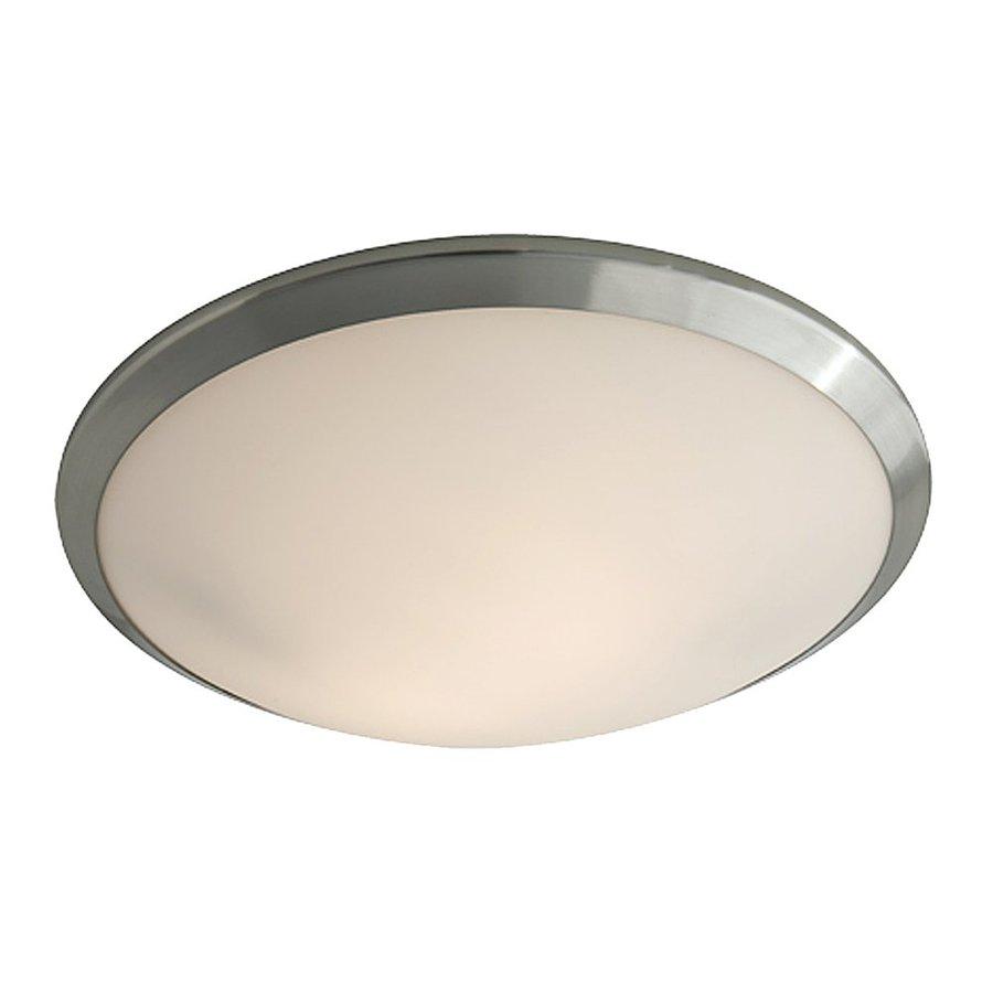 DVI Essex 16-in W Buffed nickel Flush Mount Light