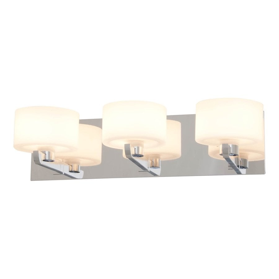DVI Haida 3-Light 5.5-in Chrome Drum Vanity Light