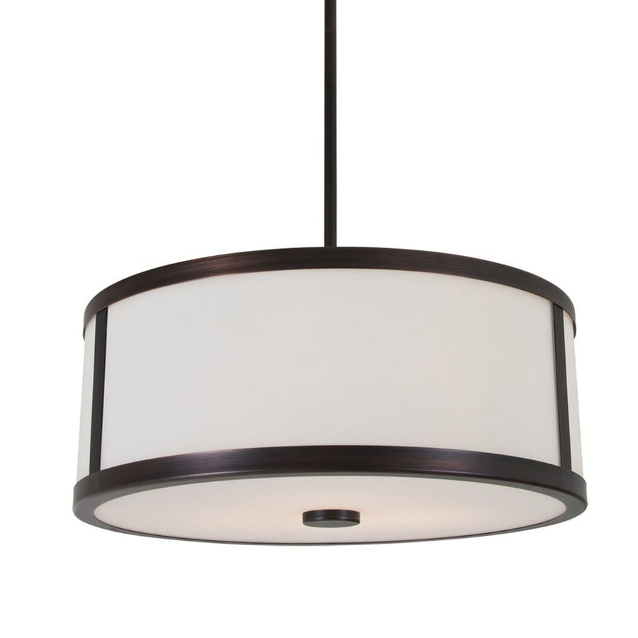 DVI Uptown 18.5-in Oil Rubbed Bronze Craftsman Single Drum Pendant