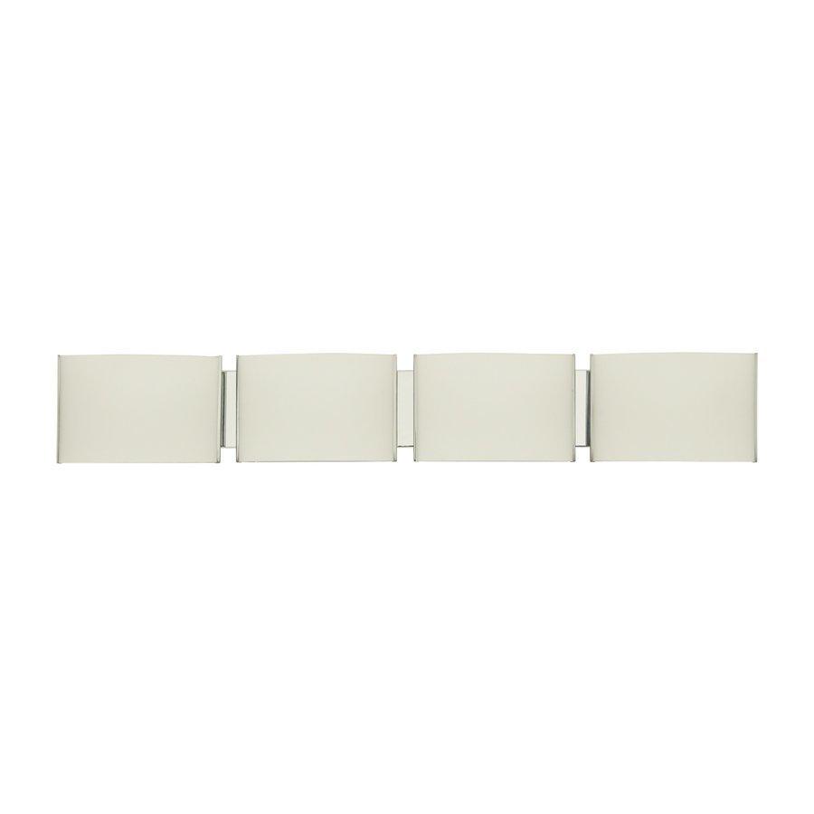 DVI Mega Vanguard 4-Light 6-in Satin Nickel Rectangle Vanity Light