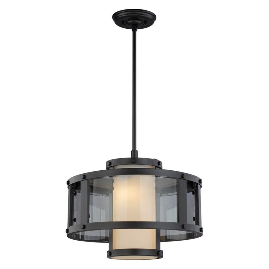 DVI Isabella 16-in Graphite Wrought Iron Single Drum Pendant
