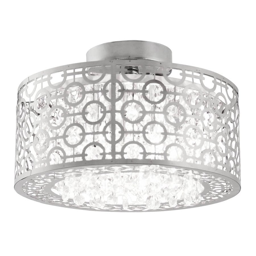 DVI Isabella 12-in W Chrome Crystal Crystal Accent Semi-Flush Mount Light
