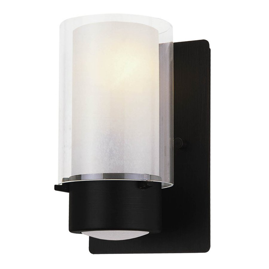DVI Essex 8-in W 1-Light Graphite Arm Wall Sconce