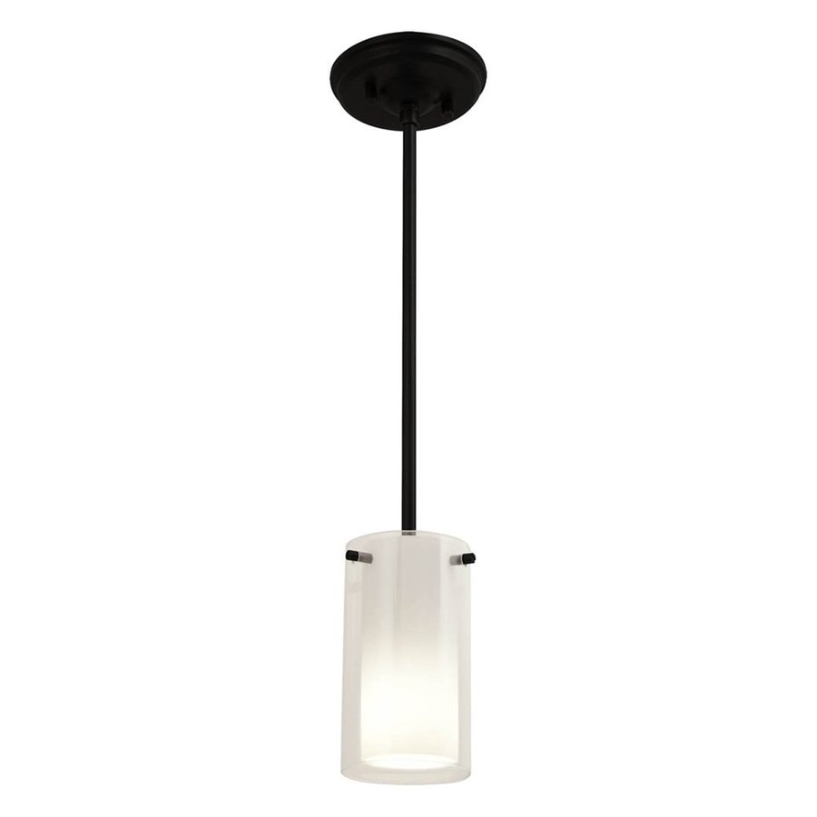 DVI Essex 4-in Graphite Wrought Iron Mini Cylinder Pendant