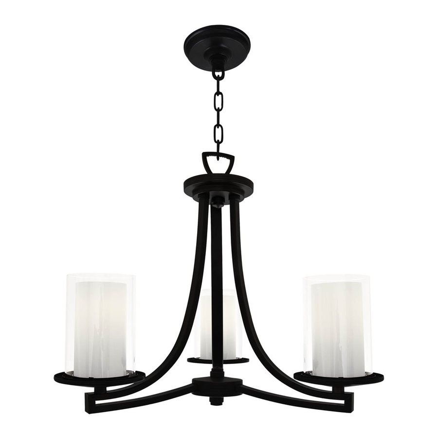 DVI Essex 20-in 3-Light Graphite Shaded Chandelier