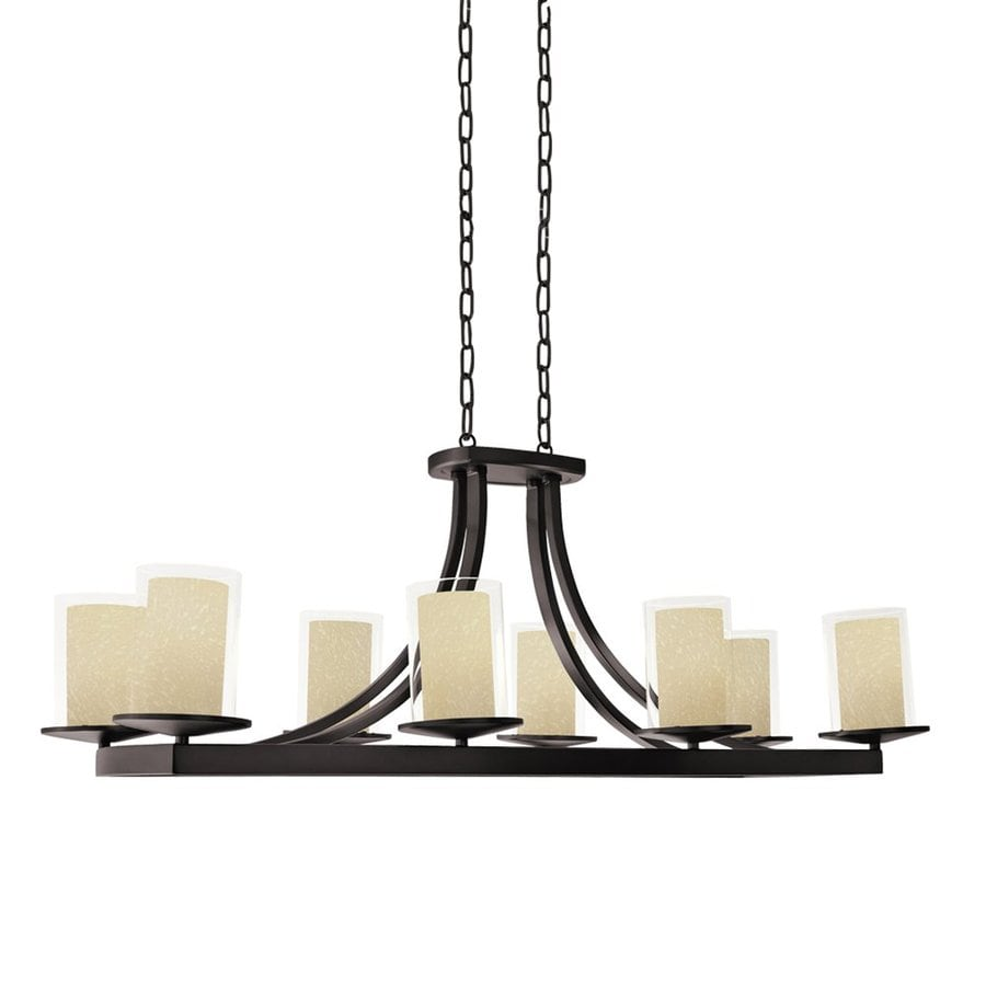DVI Essex 39-in 8-Light Oil Rubbed Bronze Craftsman Linear Chandelier