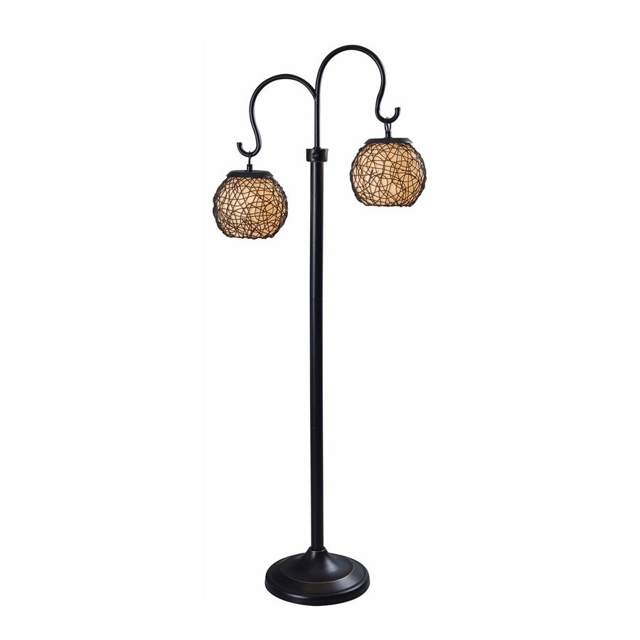 Kenroy Home Castillo 62-in Bronze 4-Way Multi-Head Floor Lamp with Plastic Shade