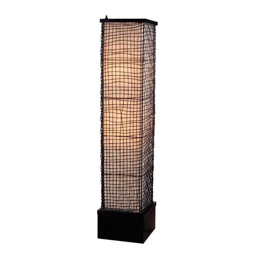 Kenroy Home Trellis 51-in Bronze 4-Way Stick Floor Lamp with Fabric Shade