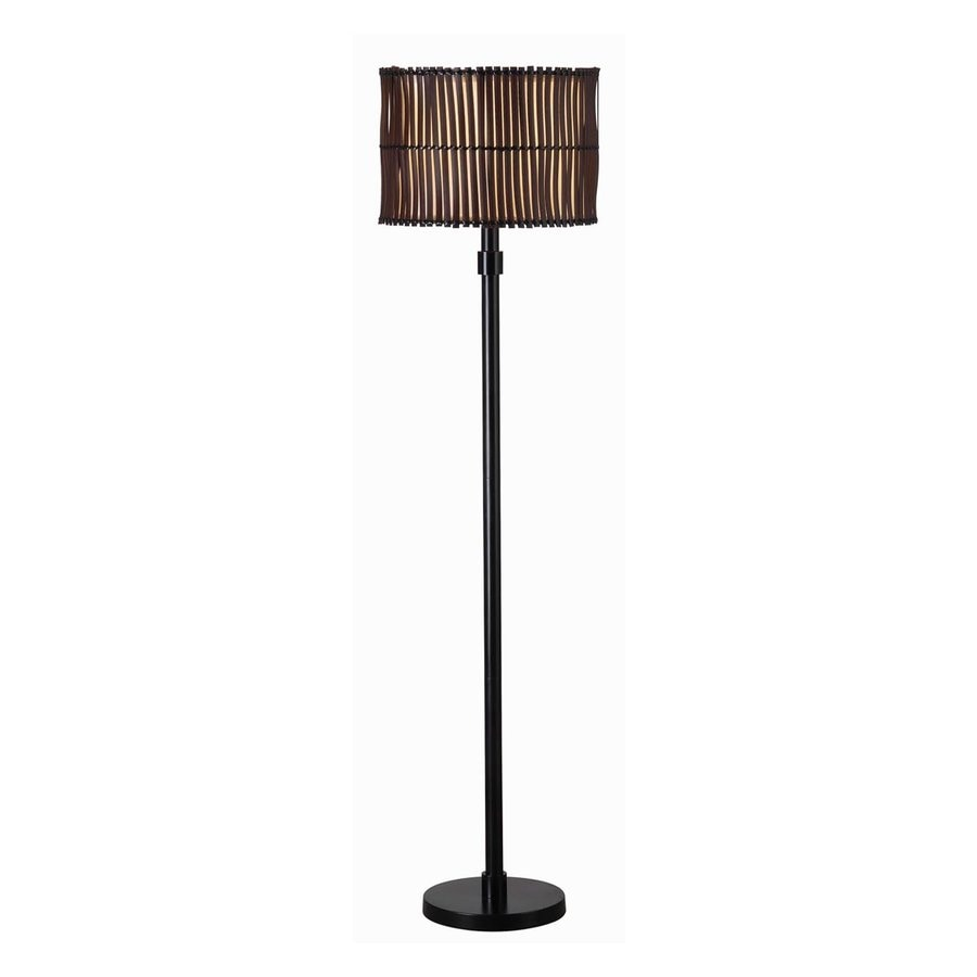 Kenroy Home Grove 59-in Bronze Floor Lamp with Fabric Shade