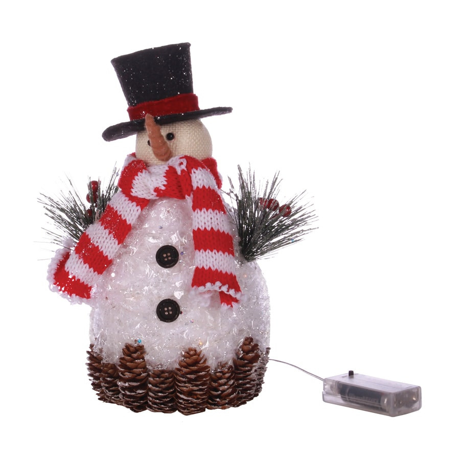 Shop oddity lighted tabletop figurine snowman indoor for Christmas decorations indoor