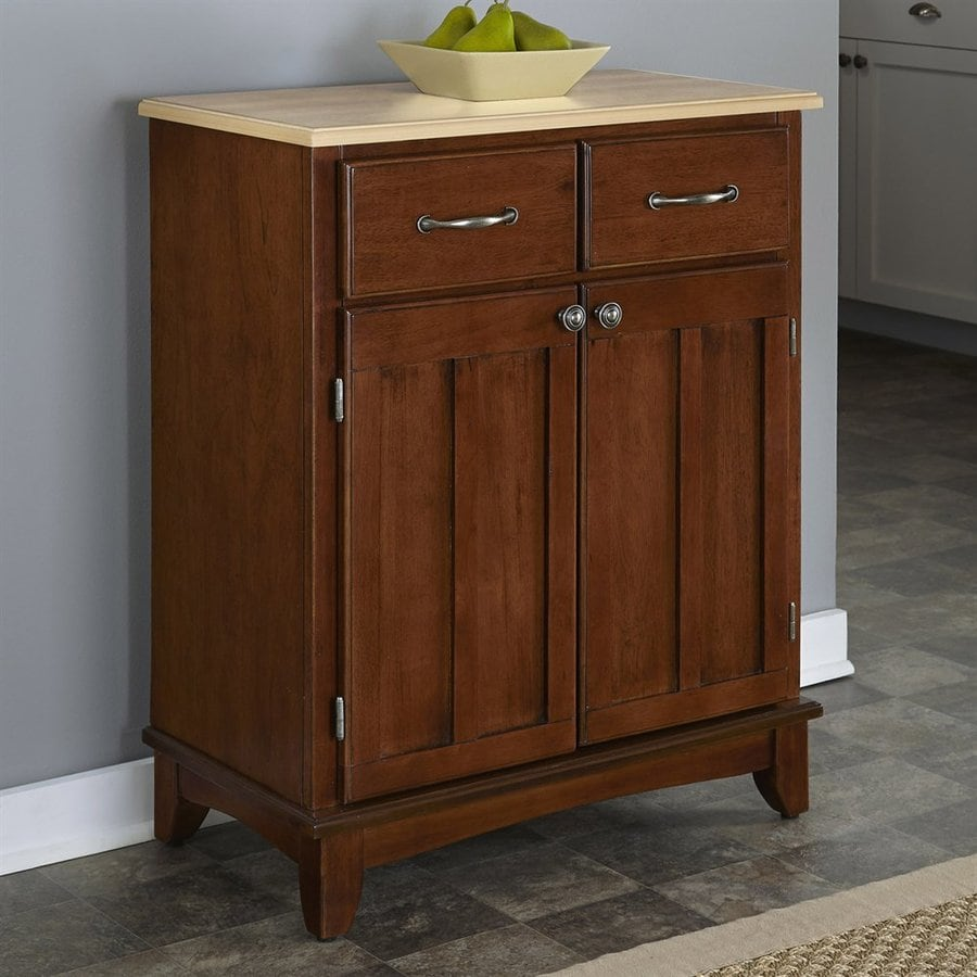 Home Styles Medium Cherry/Natural Rectangular Buffet