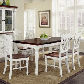 Home Styles Monarch White/Oak 7 Piece Dining Set With Dining Table