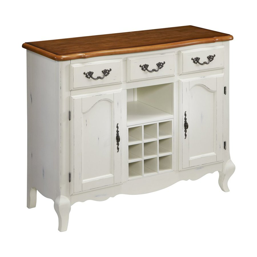 Home Styles French Countryside White/Oak Rectangular Sideboard