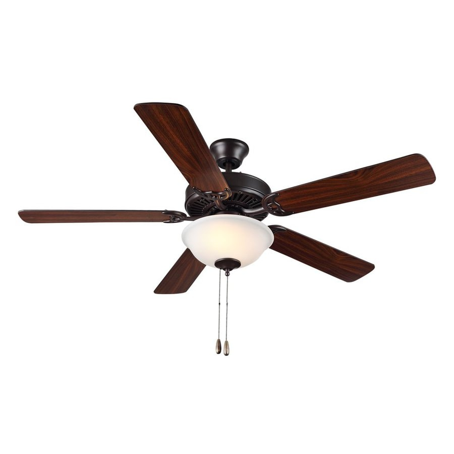 Monte Carlo Fan Company Homebuilder Ii 52-in Bronze Downrod or Close Mount Indoor Ceiling Fan Included (5-Blade)