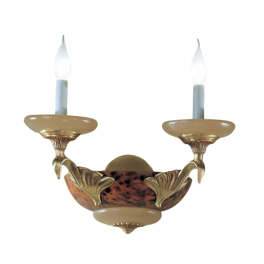 Classic Lighting Queen Anne Ii 18-in W 2-Light Satin Bronze with Sienna Patina Arm Hardwired Wall Sconce