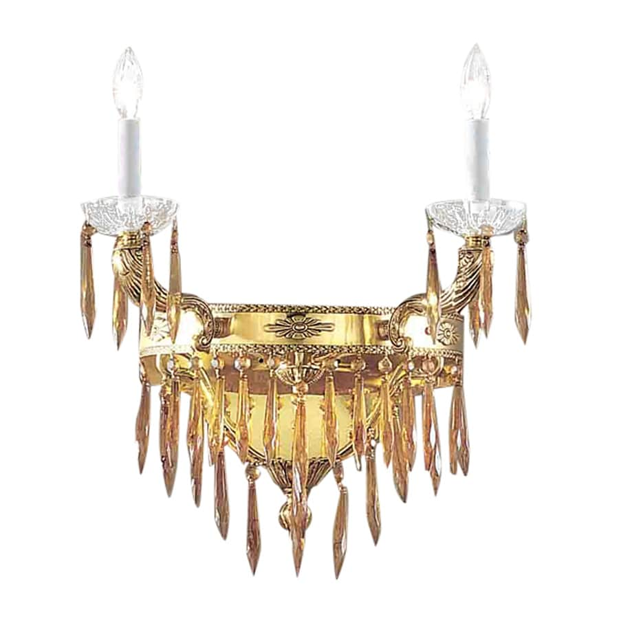 Classic Lighting Duchess 18-in W 2-Light Bronze with black patina Crystal Accent Arm Wall Sconce