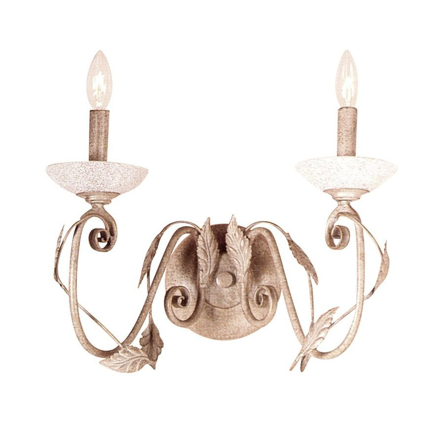 Classic Lighting Capri 15.5-in W 2-Light Ivory-Gold Arm Wall Sconce