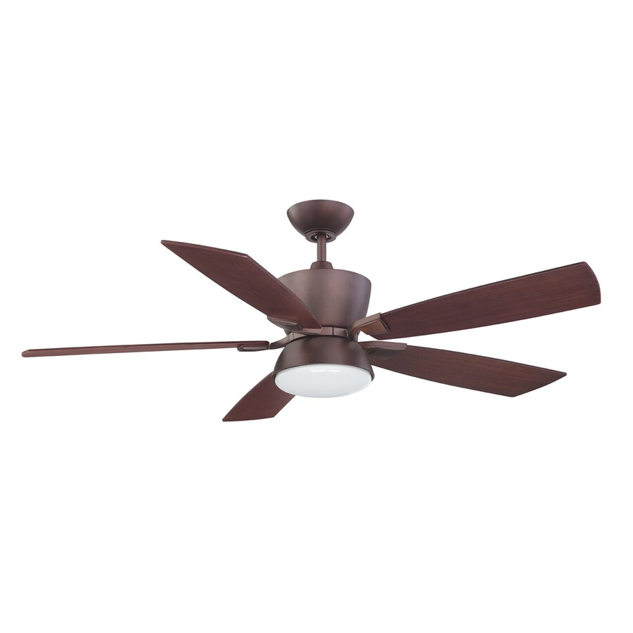 Kendal Lighting Avalon 52-in Oil-Brushed Bronze Downrod Mount Indoor Ceiling Fan with Light Kit and Remote (5-Blade)