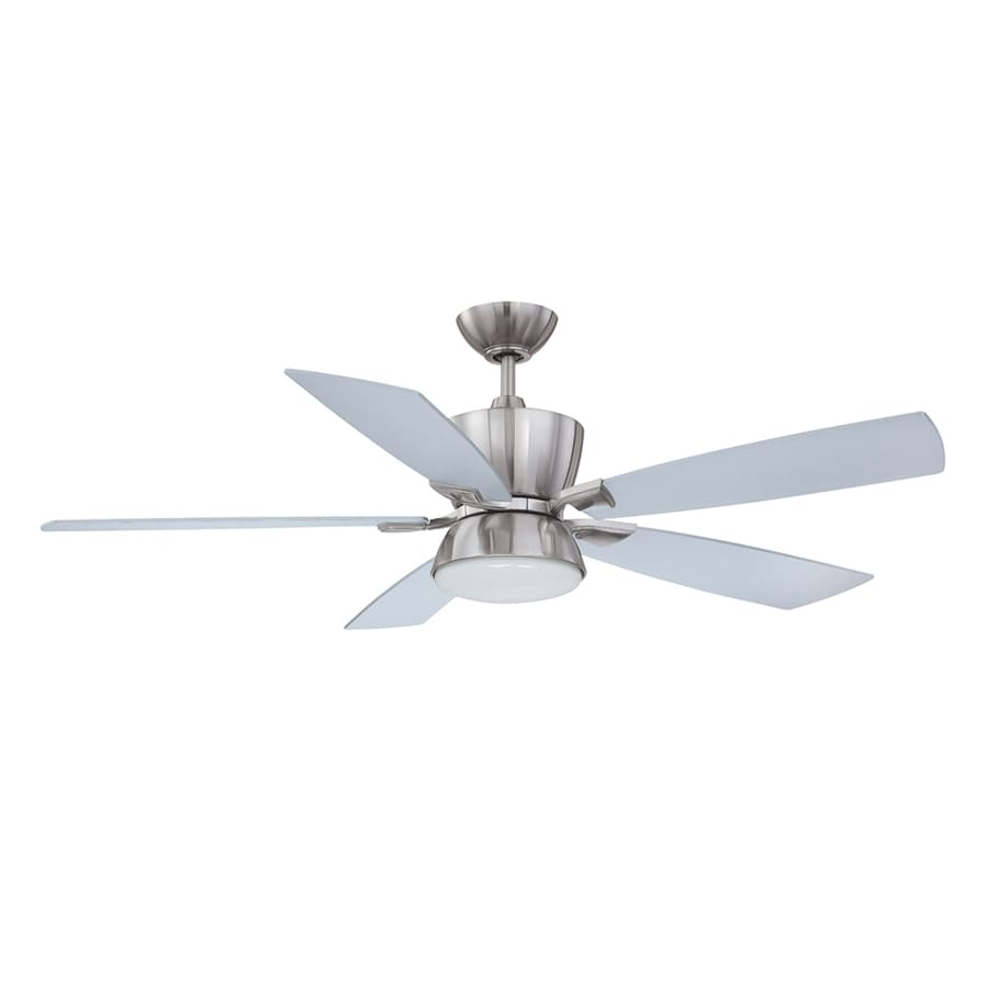 Kendal Lighting Avalon 52-in Satin Nickel Downrod Mount Indoor Ceiling Fan with Light Kit and Remote (5-Blade)