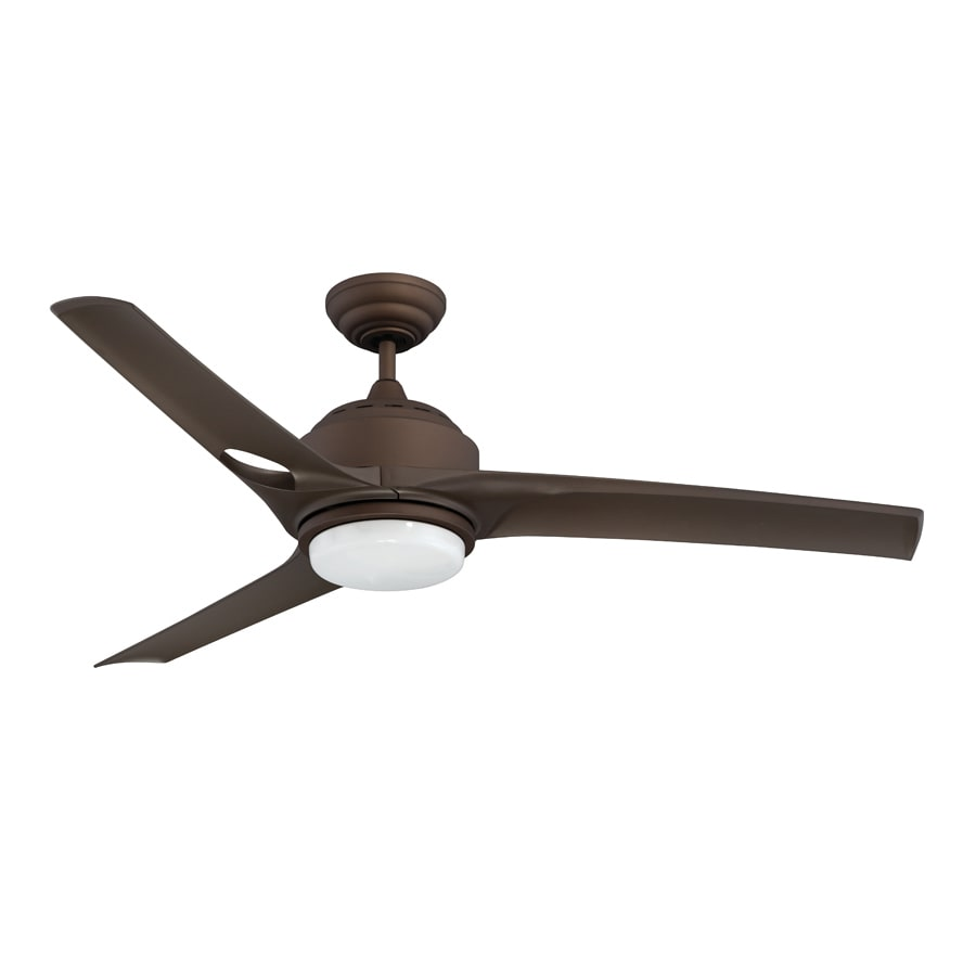 Kendal Lighting Magnum 52-in Oil-brushed bronze Indoor Downrod Mount Ceiling Fan with Light Kit and Remote (3-Blade)