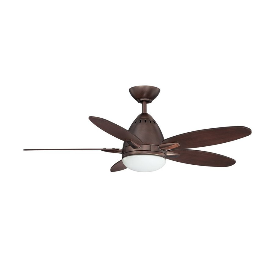 Kendal Lighting Navaton 44-in Oil-Brushed Bronze Downrod Mount Indoor Ceiling Fan with Light Kit and Remote (5-Blade)