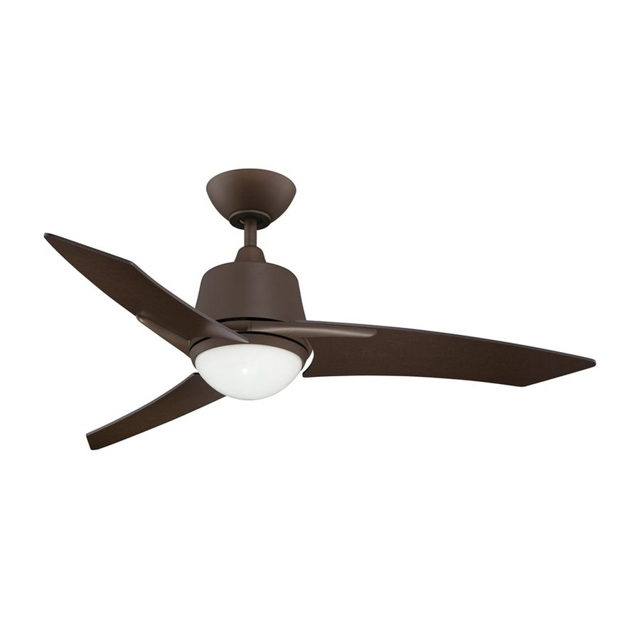 Kendal Lighting Scimitar 44-in Oil-Brushed Bronze Downrod Mount Indoor Ceiling Fan with Light Kit and Remote (3-Blade)