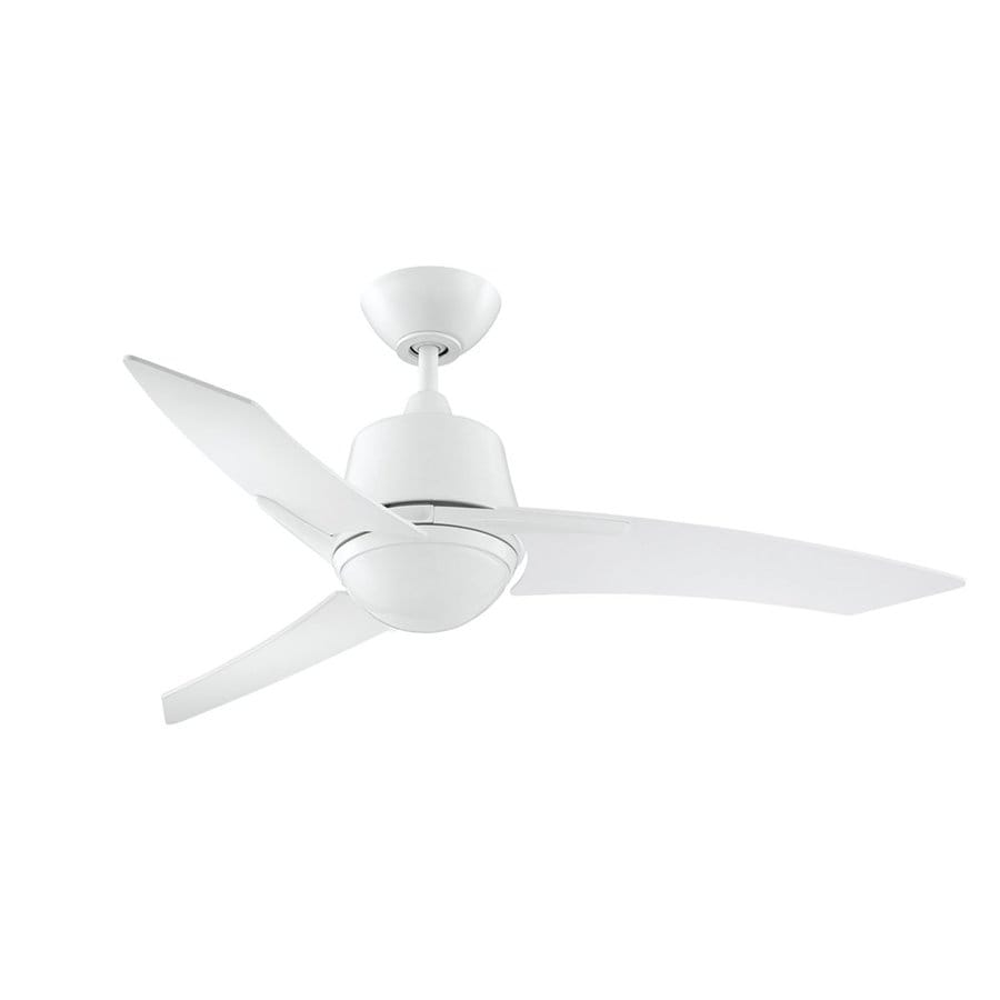 Kendal Lighting Scimitar 44-in White Indoor Downrod Mount Ceiling Fan with Light Kit and Remote (3-Blade)