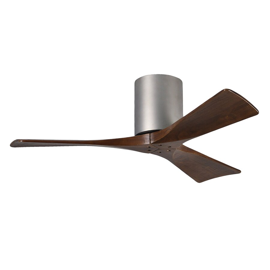 Matthews Irene 42 In Brushed Nickel Indoor Outdoor Flush Mount Ceiling Fan And Remote