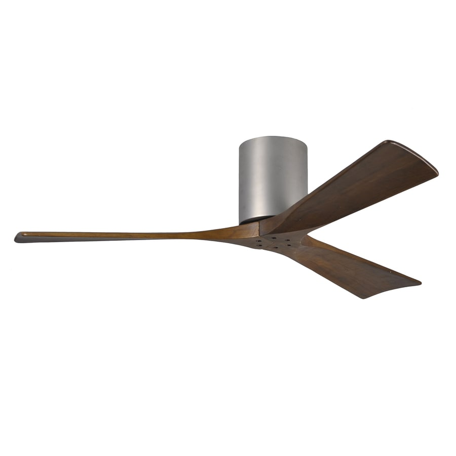 Matthews Irene 52-in Brushed nickel Indoor/Outdoor Flush Mount Ceiling Fan and Remote (3-Blade)