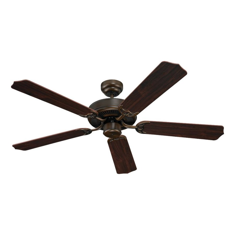 Sea Gull Lighting Quality Max 52-in Russet bronze Indoor Downrod Or Close Mount Ceiling Fan