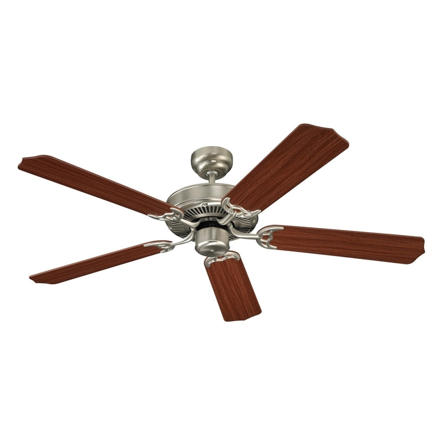 Sea Gull Lighting Quality Max 52-in Brushed Nickel Downrod or Close Mount Indoor Ceiling Fan (5-Blade) ENERGY STAR