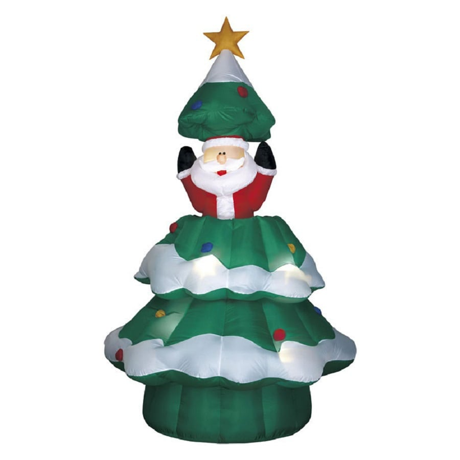 Shop 6.004-ft Internal Light Christmas Tree Inflatable at Lowes.com