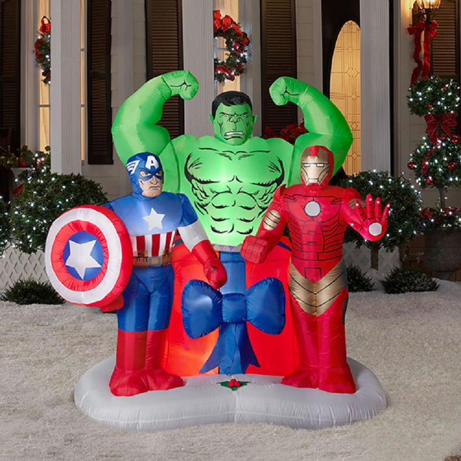 6004 ft x 351 ft lighted marvel avengers christmas inflatable - Christmas Blow Up Decorations Outside