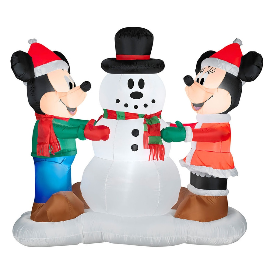 Shop 5.151-ft Internal Light Mickey Mouse Christmas Inflatable at ...