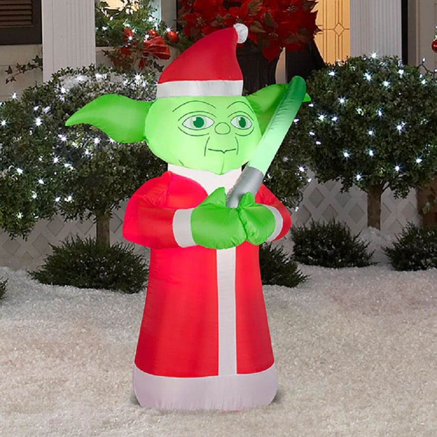 J. Marcus 3.5-ft x 2-ft Lighted Star Wars Yoda Christmas Inflatable