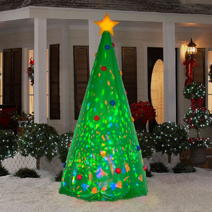 Nice 8.005 Ft X 3.675 Ft Lighted Christmas Tree Christmas Inflatable