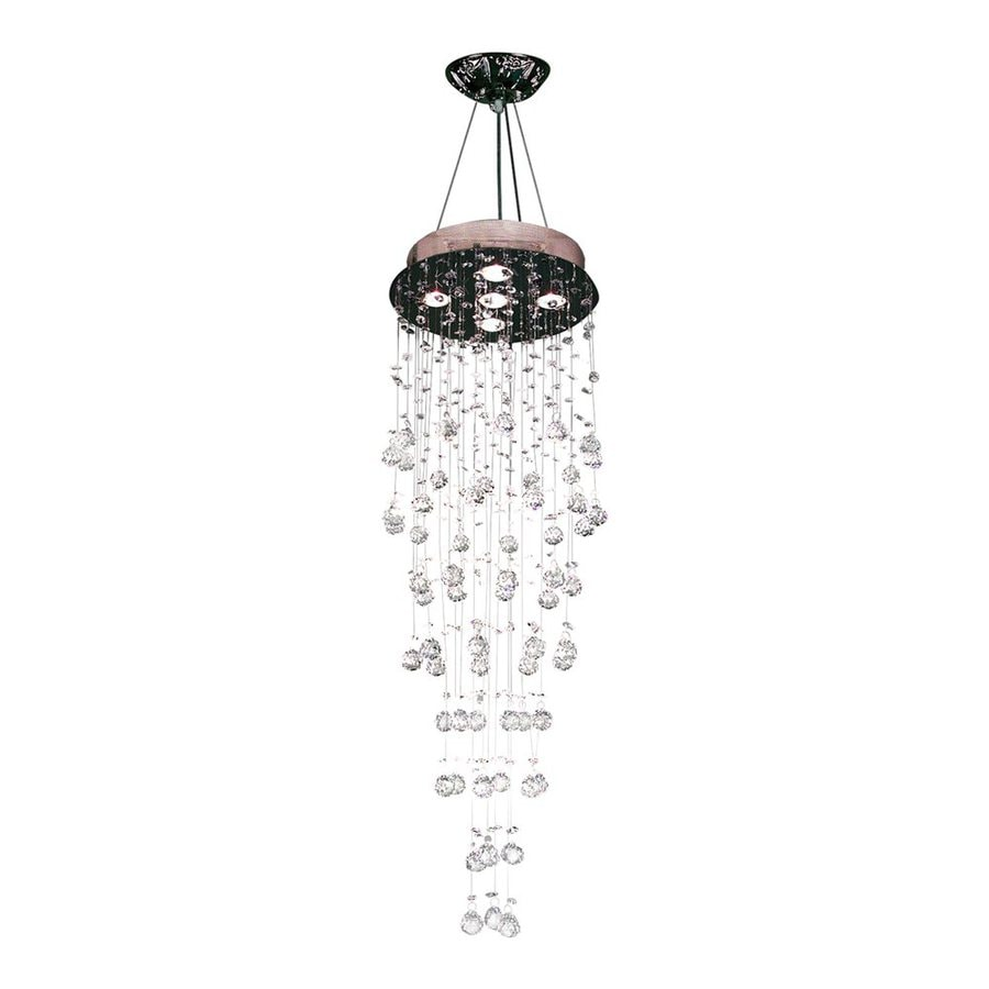 Classic Lighting Andromeda 16-in W Chrome Crystal Semi-Flush Mount Light