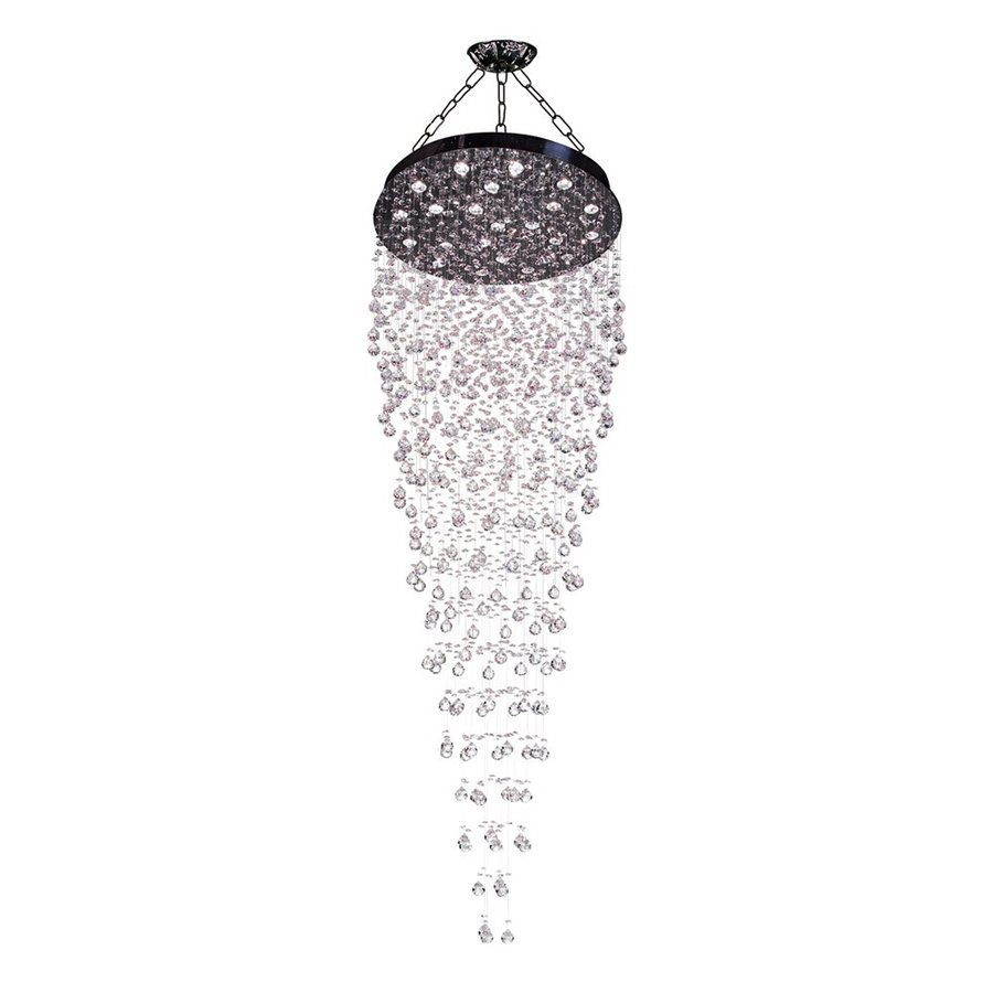 Classic Lighting Andromeda 31-in W Chrome Crystal Accent Semi-Flush Mount Light