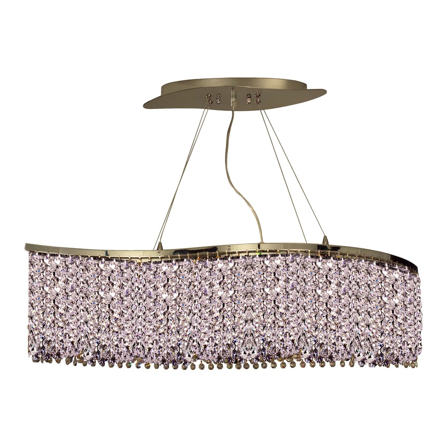 Classic Lighting Bedazzle 34-in Chrome Single Crystal Pendant