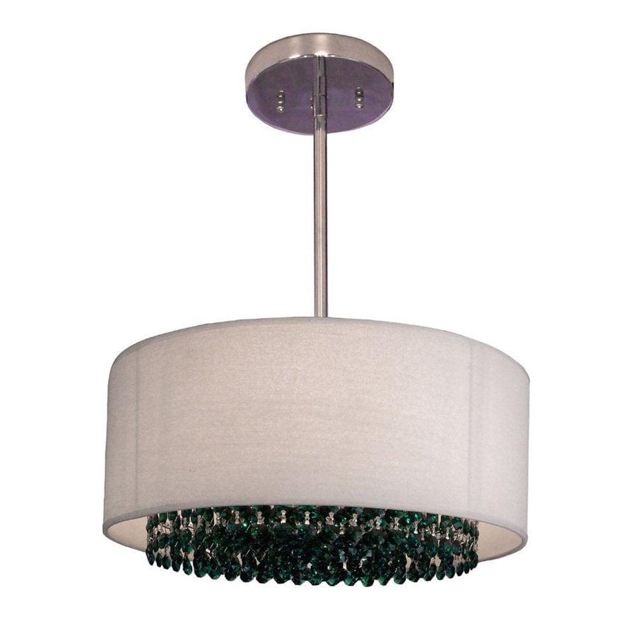 Classic Lighting Newport 15-in Chrome Single Crystal Drum Pendant