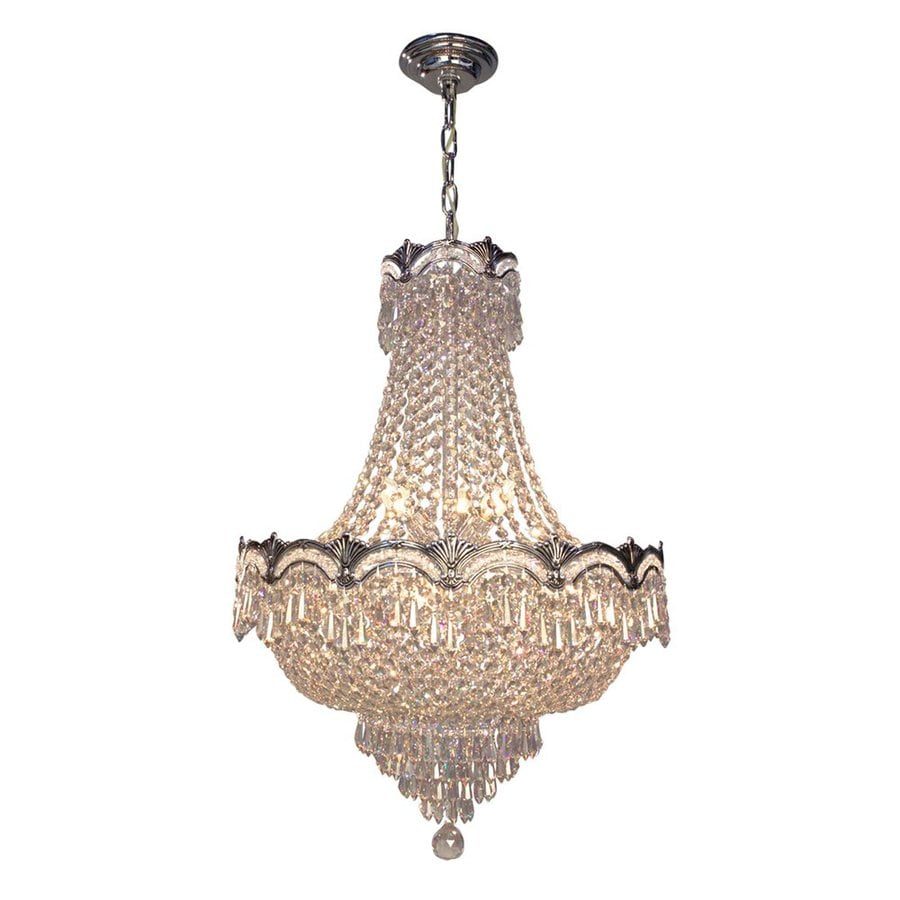 Classic Lighting Regency Ii 21-in 8-Light Chrome with Black Patina Crystal Empire Chandelier
