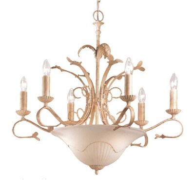 Treviso 29 In 9 Light Ivory Wrought Iron Candle Chandelier