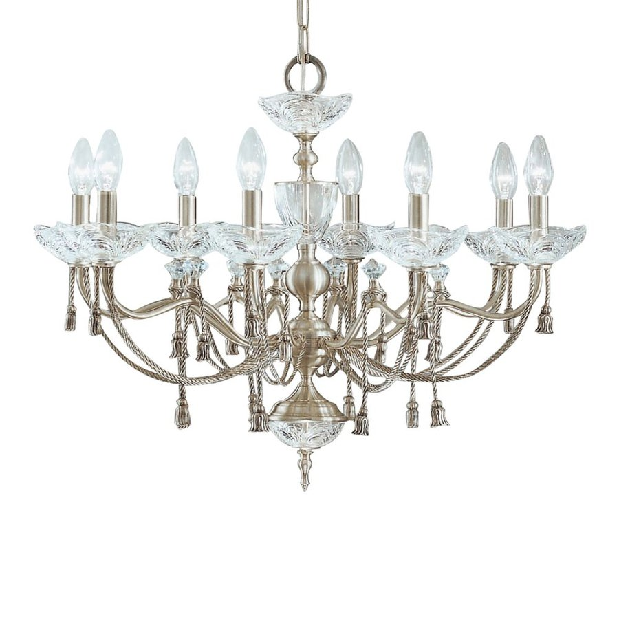 Shop classic lighting devonshire 27 in 8 light satin Crystal candle chandelier