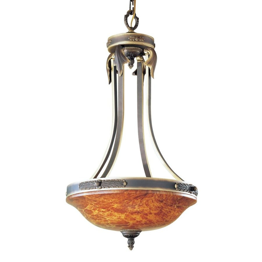 Classic Lighting Venetian 19-in Matte Bronze Vintage Single Bowl Pendant