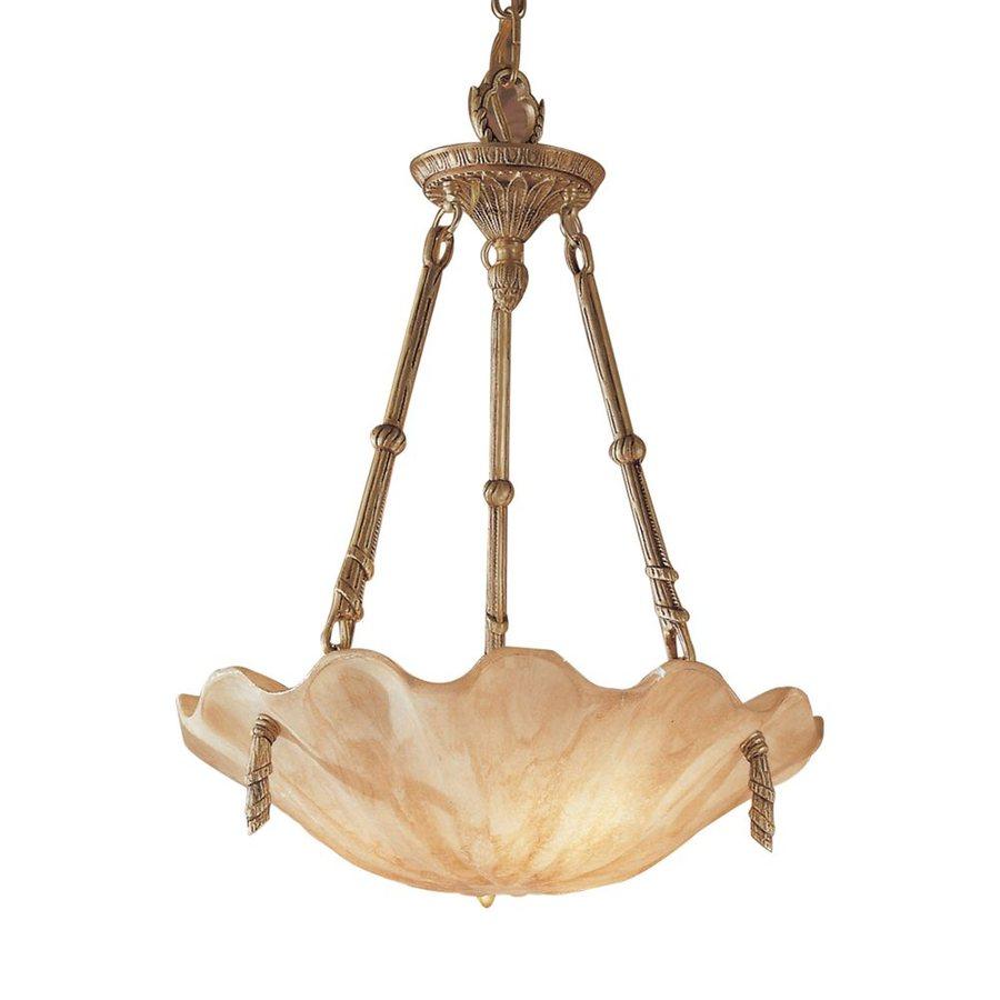 Classic Lighting Atlantis 18-in Matte Bronze Vintage Single Bowl Pendant